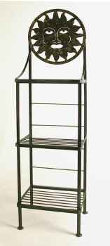 Sun face metal bakers rack