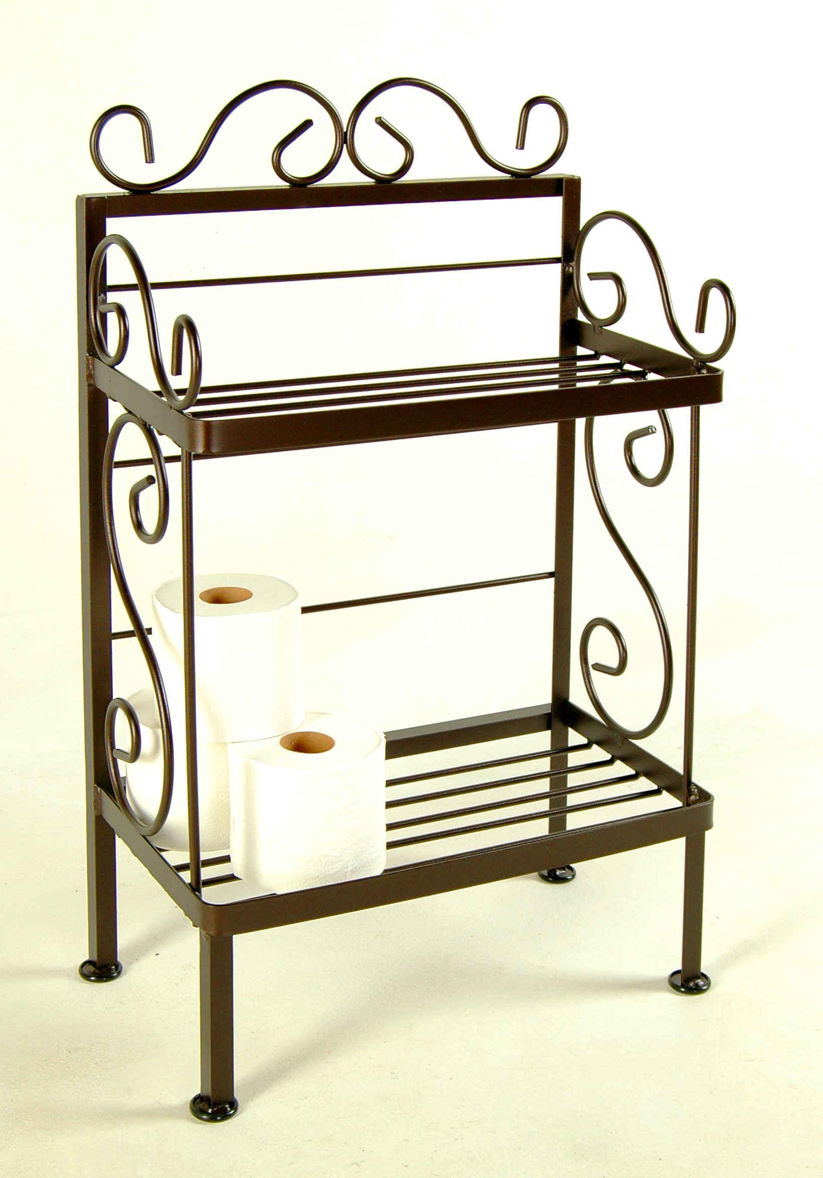 Grace Bathroom Storage Racks For Towels And Bath Room Tissue