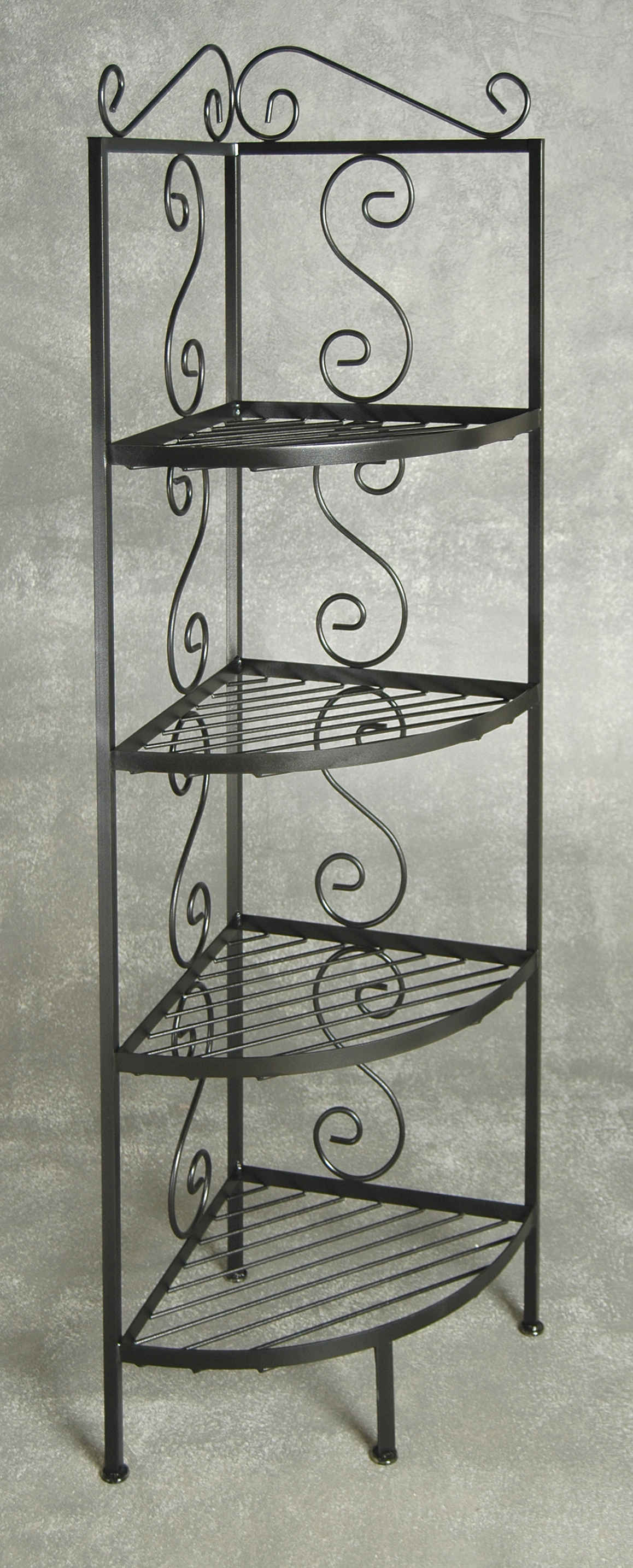 Corner Bakers Rack with Glass