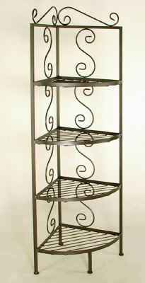 Wrought iron corner rack side view