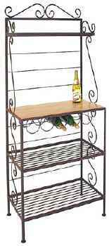 30 inch wrought iron gourmet bakers rack