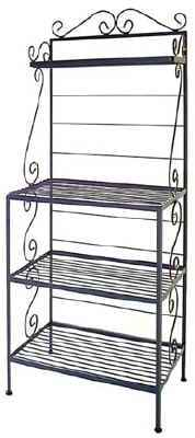 Wrought Iron Microwave Style Bakers Rack