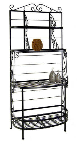 36 inch bow front French bakers rack