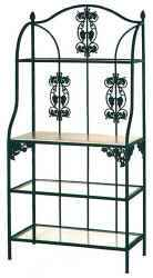 36VZ wrought iron bakers rack for display