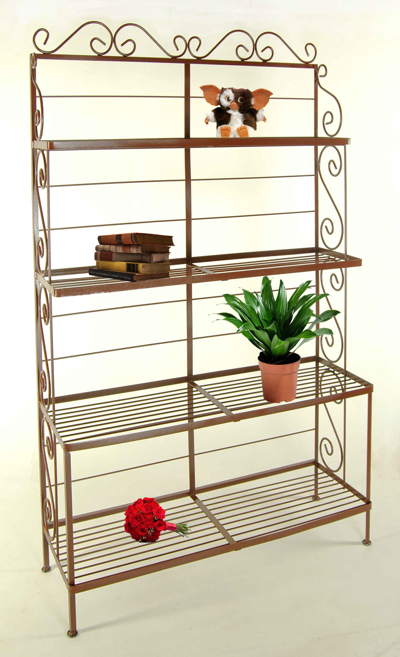 Graduated Bakers Racks with Wire Shelves