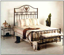 Steer wrought iron bed
