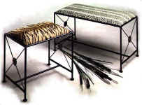 wrought benches images