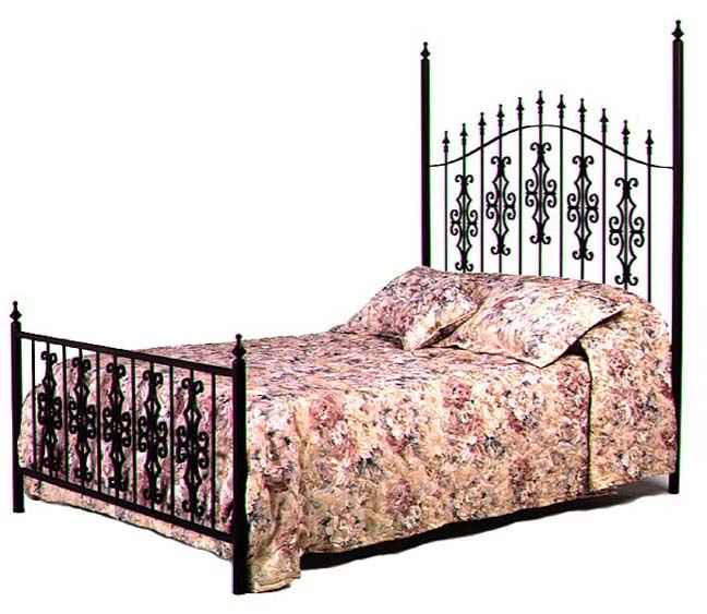 Wrought Iron Bed Gothic Gate Wrougth