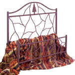 Twig lodge style iron bed