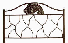 Bass fish wrought iron bed