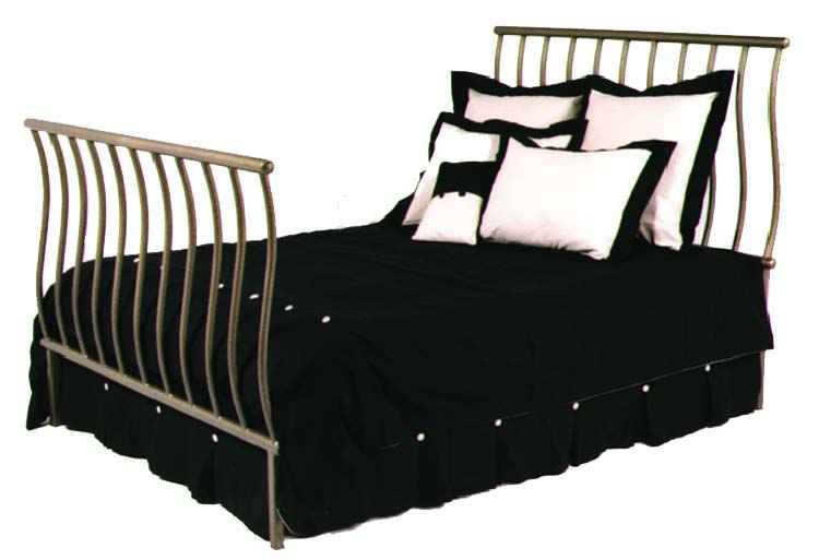 Beds Awesome Wrought Iron Sleigh Bed Wrought Iron Sleigh: Grace Wrought Iron Beds