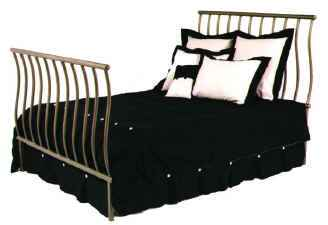 Queen size metal sleigh bed