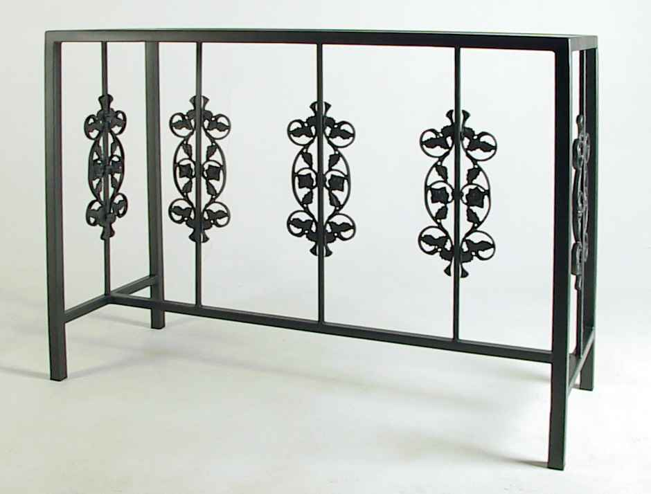 Wrought Iron Buffet Table With Glass Top