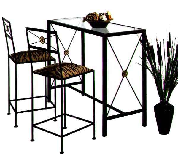 Wrought Iron Bar Stool Tables