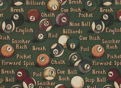 billiards 8-ball fabric