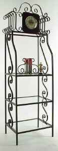 Clock Etagere Made From Wrought Iron
