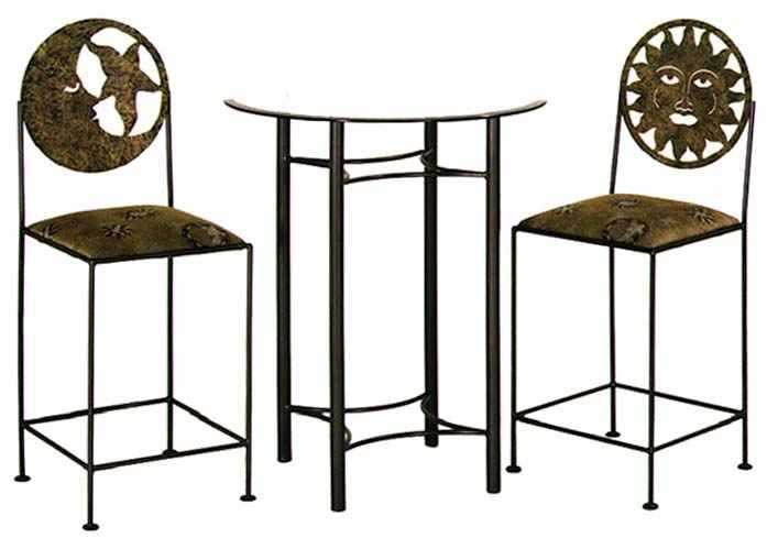 Sun And Moon Bar Stools With Table