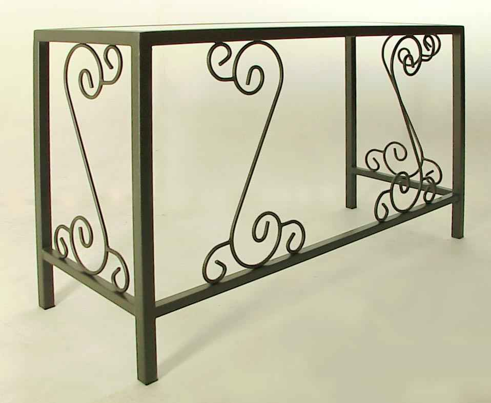 Wrought Iron Desks And Vanity Tables