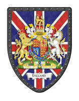 England Union Jack flag coat of arms
