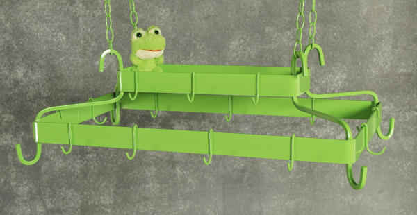 FDR hanging pot rack with green frog ... that's right a green frog , not included