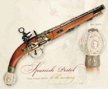 Spanish Replica Flintlock Pistol