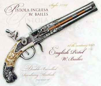 Double Barrel English Pistol