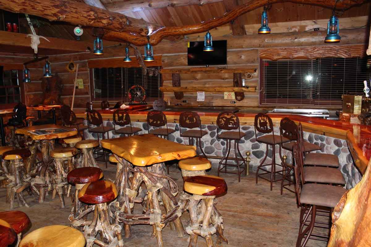 Rustic bar stools and furniture for Rustic lodge