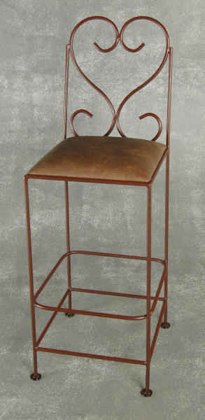 30 inch seat height wrought iron bar stool
