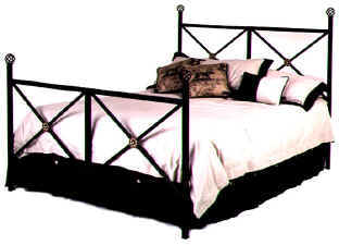 Neoclassic modern style metal bed