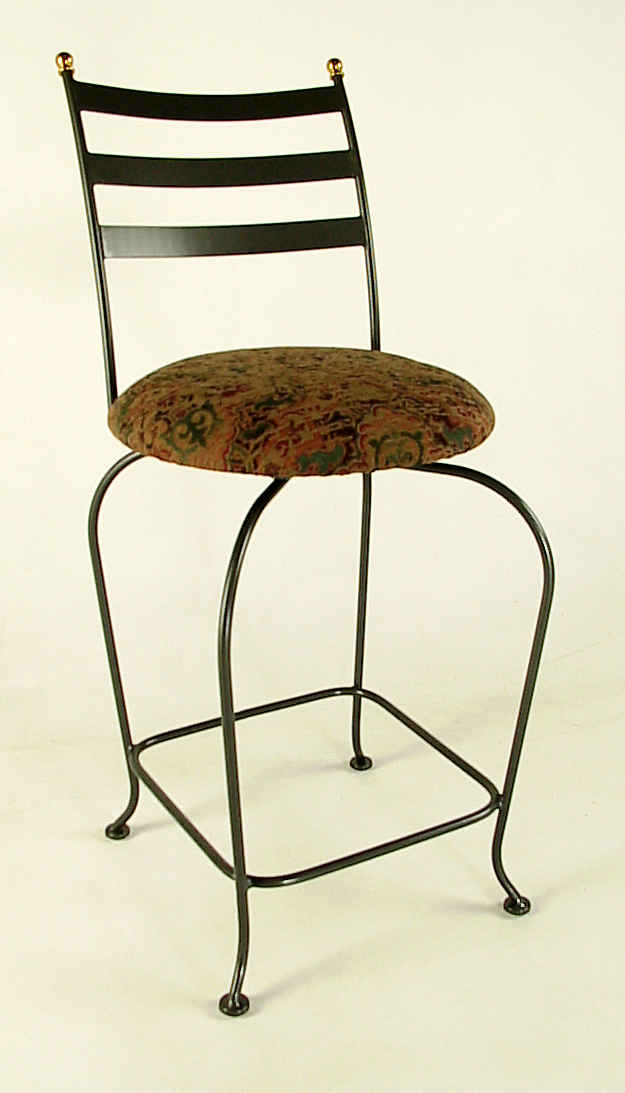 Carolina Swivel Wrought Iron Bar Stool