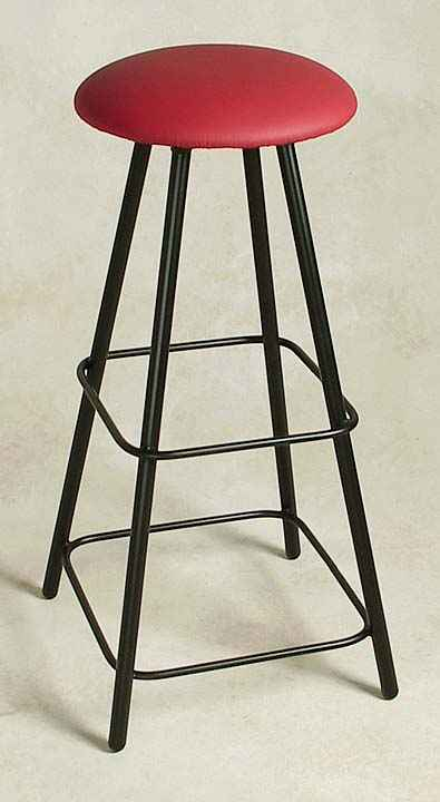 Tall Bar Stool 300 Moderno Style Backless Swivel Made From Sy Heavy Gauge Steel Tubing Available With Upholstered Or Solid Hardwood Seat