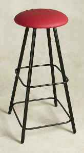 Extra tall backless swivel bar stool