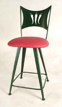 Chili Peppers Bar Stool