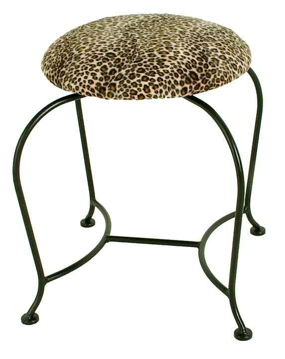 Wrought iron vanity stool. Wrought Iron Benches  Upholstered