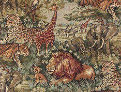 Safari African animals fabric