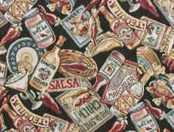 Salsa Southwestern Tex-Mex fabric with tequila and chili peppers