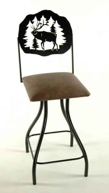 Elk Bar Stool with swivel seat