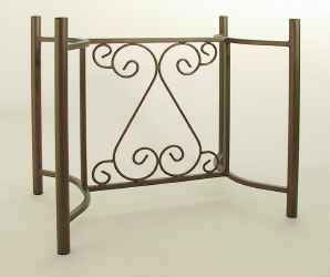 French wrought iron table base