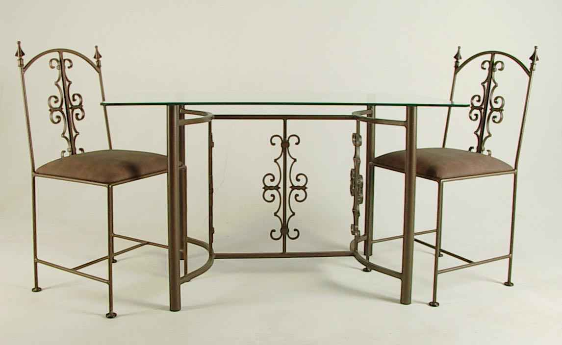 Gothic Wrought Iron Dining Set