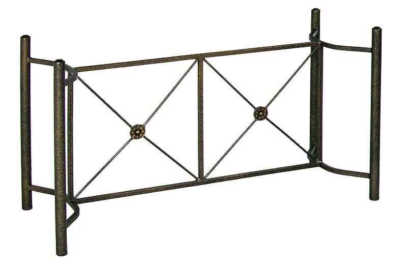 Neoclic Large Wrought Iron Dining Table Base For Gl