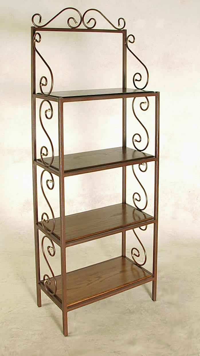 Wood Shelf Bakers Rack