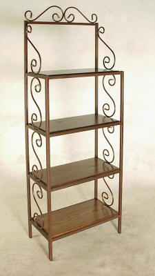 T24R wrought iron bakers rack