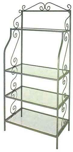 Glass Shelf Bakers Rack