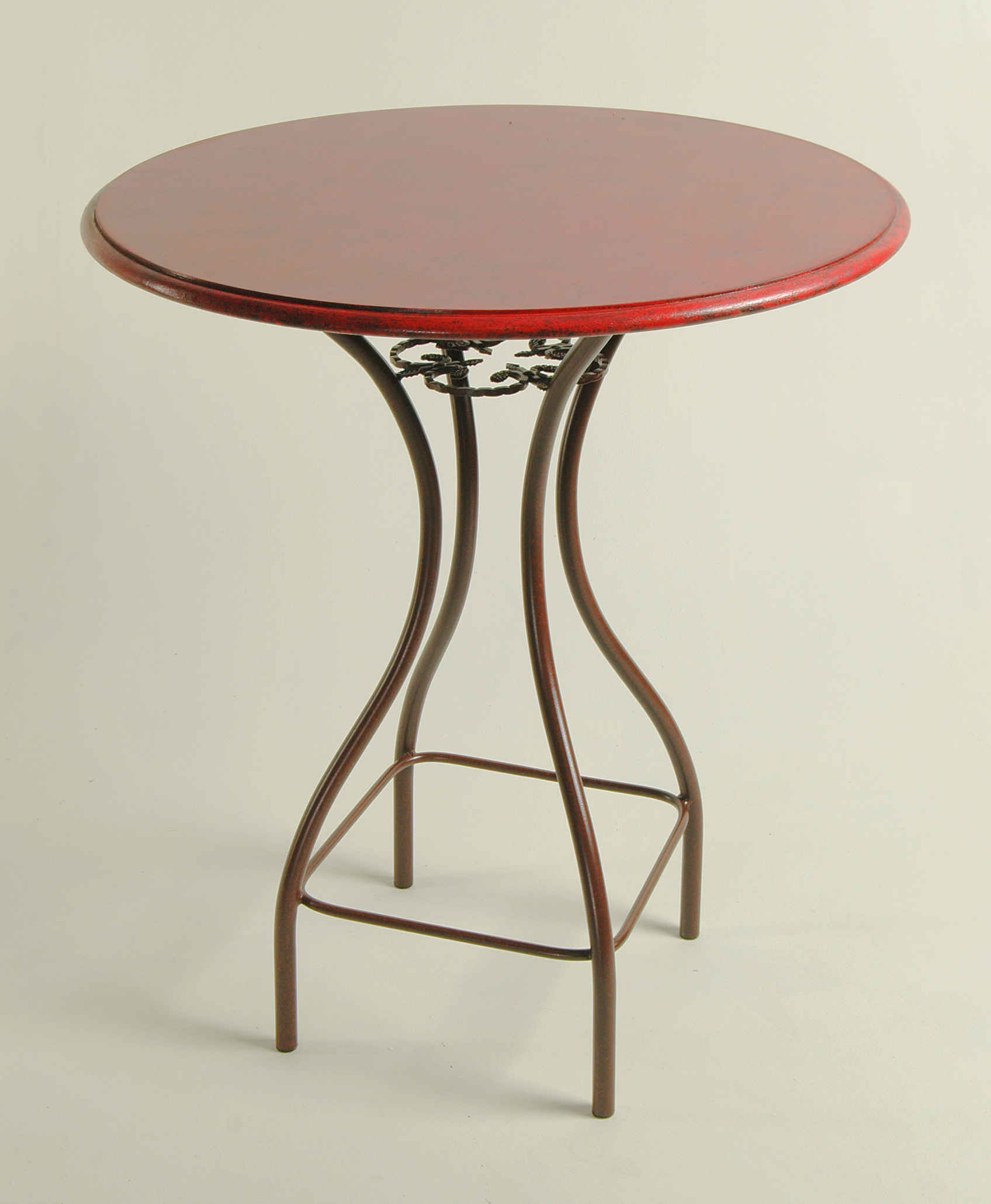 Merveilleux Bistro Table Base With Wood Top