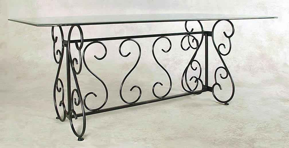 Wrought Iron Table Base For Gl