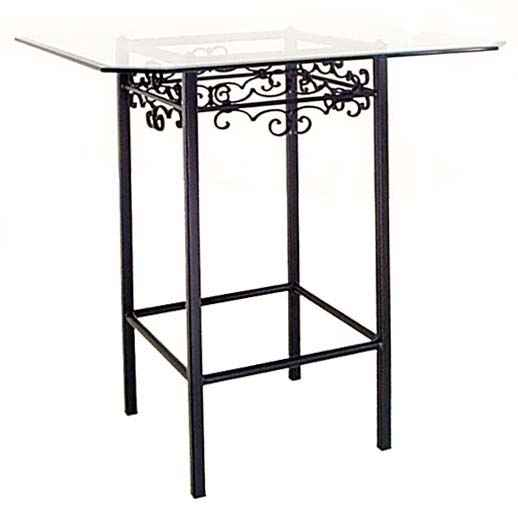 Exceptionnel Tall Wrought Iron Bar Table
