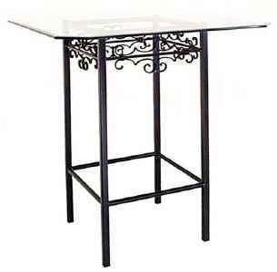 Tall wrought iron bar table