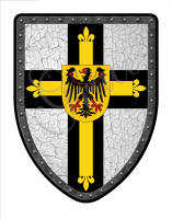 Teutonic cross medieval shield
