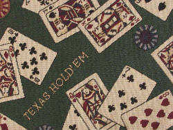 Texas Hold'Em playing cards fabric