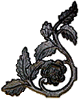 Wrought Iron Rose Left